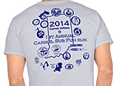 Carmel Fun Run 2014 T-shirt Back